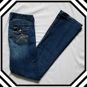 Rue 21 Mid Rise Bootcut Jeans w/ Embroidered Pocke